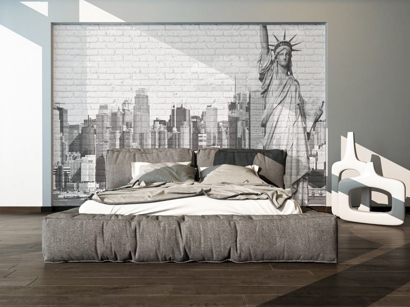 Cadre tissu d co my deco stand for Tapisserie new york castorama